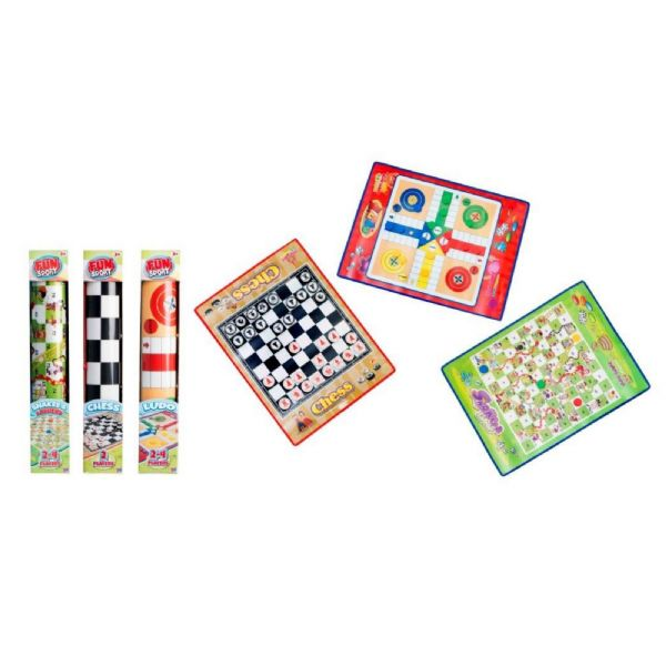 Fun Sport Play Mat Games - Chess - Snakes And Ladders - Ludo Playmat